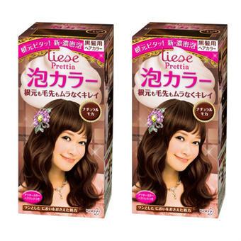 日本KAO花王Prettia泡沫染发膏自然摩卡色2套