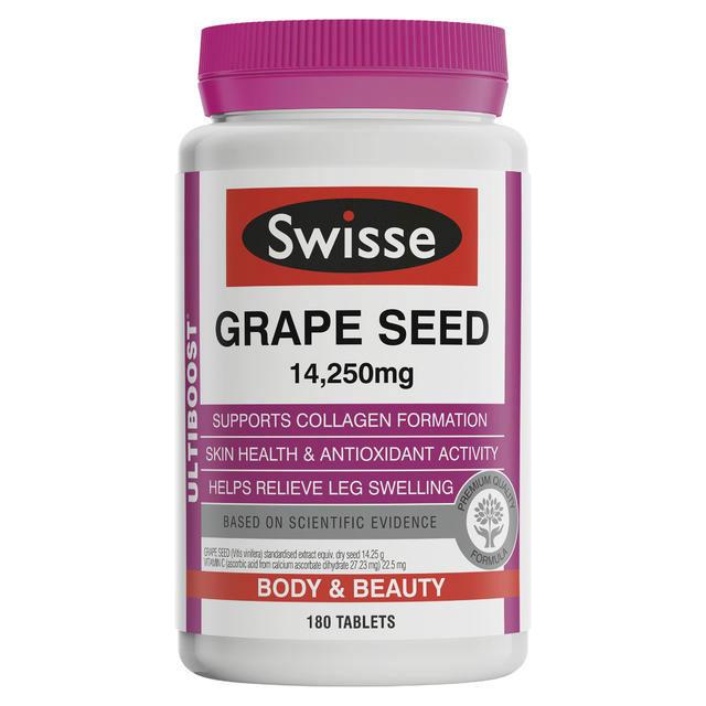 【妮可基德曼同款】Swisse 澳洲葡萄籽精华 180粒(天然抗氧化)