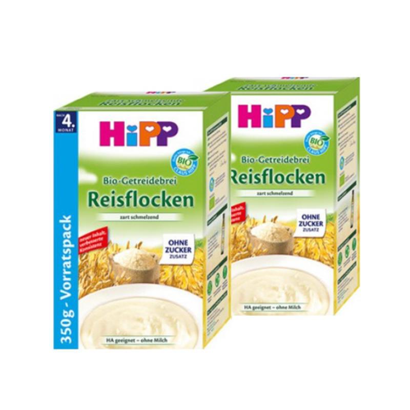 HiPP 喜宝 宝宝有机精细纯大米免敏米粉/米糊 350g 4个月以上宝宝辅食 不含糖 2盒