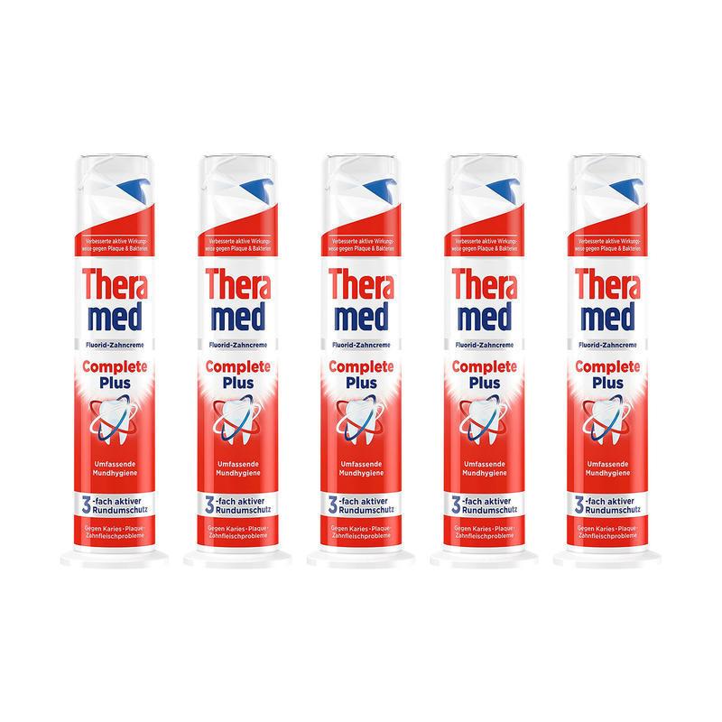 【5个特惠装】Theramed 泰瑞美 立式牙膏红色 多效护龈100毫升/支5个