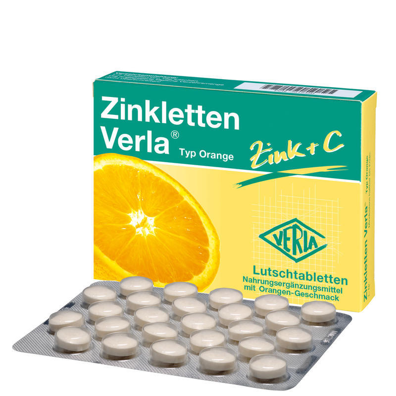 Zinkletten Verla 婴儿/儿童/孕妇补锌+香橙维C含片 改善厌食/提高免疫力 100片