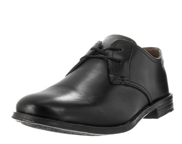 Clarks 克拉克男士 Hawkley 黑色皮革禮服鞋