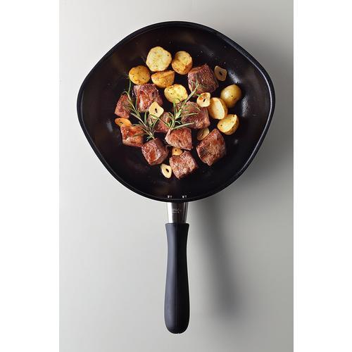 【凑单品】柳宗理SORI YANAGI南部铁器带盖平底煎锅不粘锅
