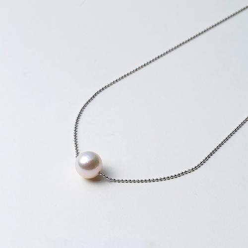 【8折】Maria 9mm阿古屋海水珍珠S925银链 一颗珠