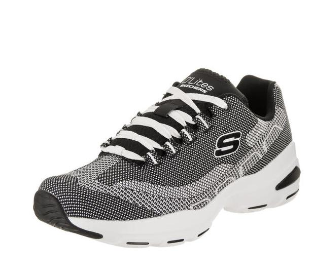 【双十一同价】Skechers D&#039Lite 男士 黑/白休闲鞋