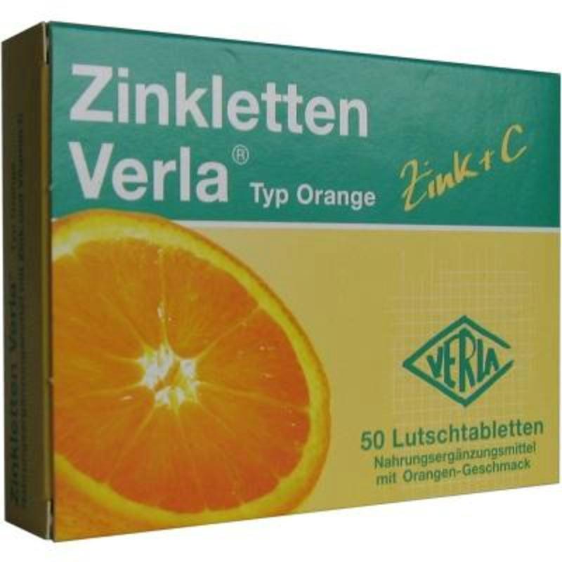 Zinkletten Verla 补锌含片 橙子味 50粒