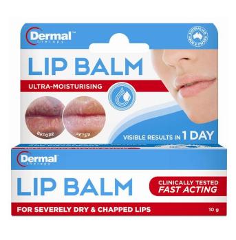 【澳洲CD药房】Dermal Therapy 修复死皮及干裂润唇膏 10g