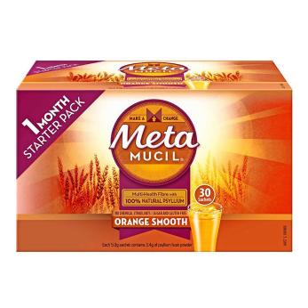 【澳洲CD药房】Metamucil 吸油纤维素膳食纤维粉 香橙味 30包 独立包装 (无糖零脂肪)