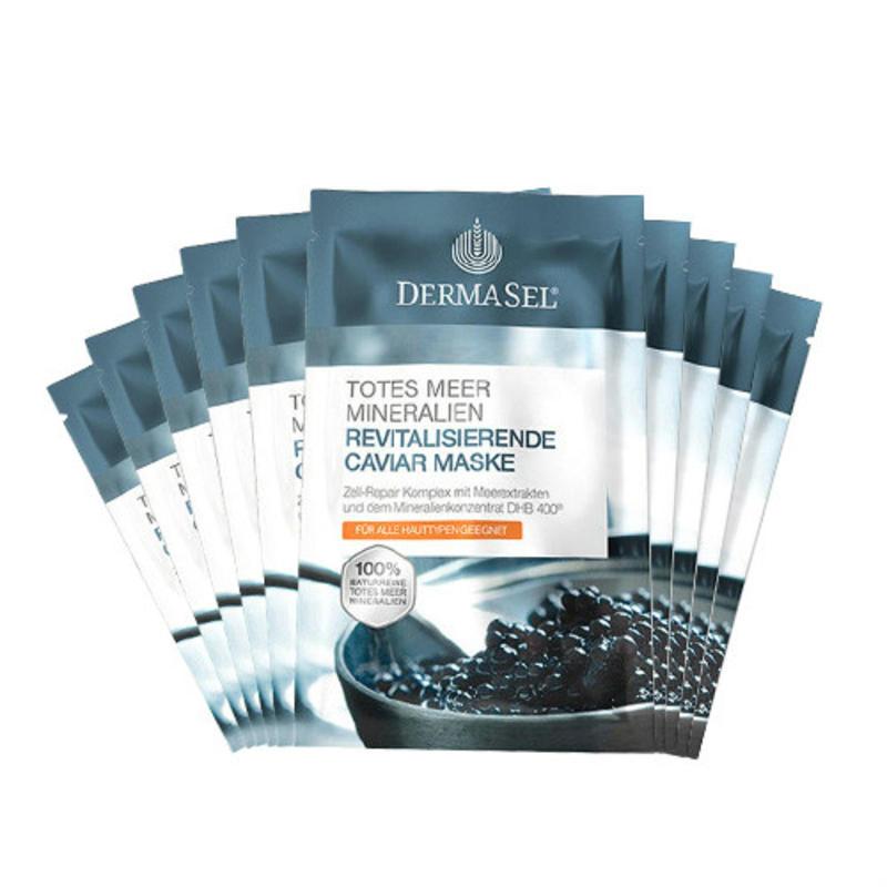 【10片套装】Dermasel 死海 鱼子酱复合矿物质深海酶面膜 12ml10片低至8折