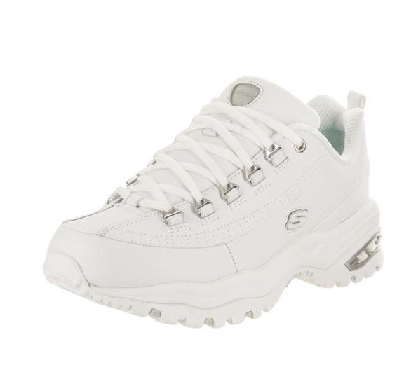 Skechers/斯凯奇女鞋运动休闲鞋皮质小白鞋