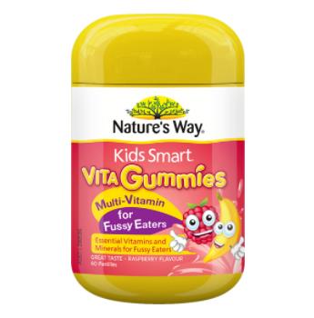 【澳洲CD药房】Nature&#039s Way 佳思敏 复合维生素儿童软糖 60粒(改善偏食挑食)