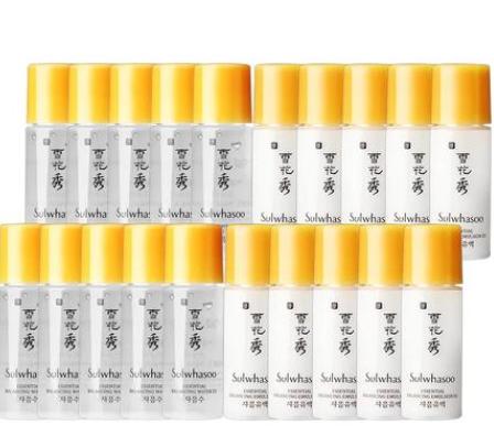 【10对包邮装】韩国Sulwhasoo 雪花秀滋阴小样 爽肤水5ml10+乳液5ml10