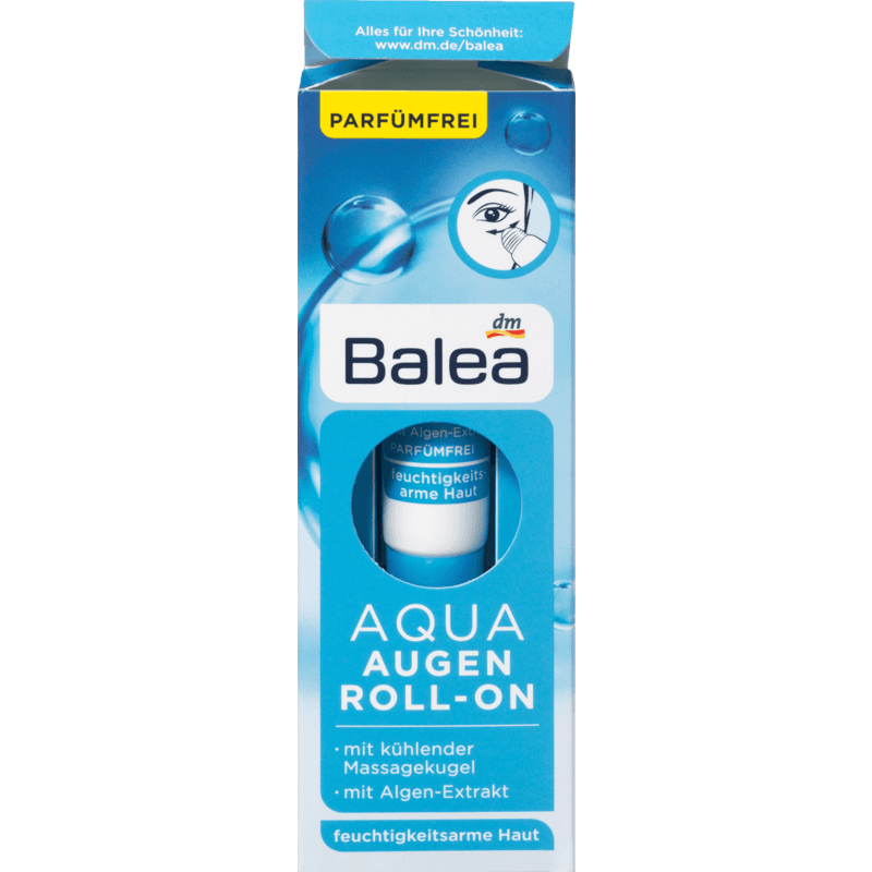 Balea 芭乐雅 蓝藻精华锁水保湿眼部滚珠 15ml 滋养修复 改善干燥细纹 绽放迷眸仅需€4.47