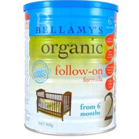 【澳洲PO药房】Bellamy's  贝拉米 有机婴幼儿配方奶粉 (2段) 6-12个月 900g