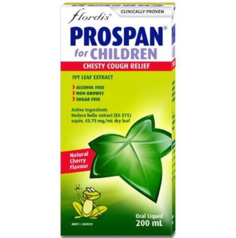 【澳洲PO药房】Flordis Prospan 常春藤糖浆 200ml (儿童适用)