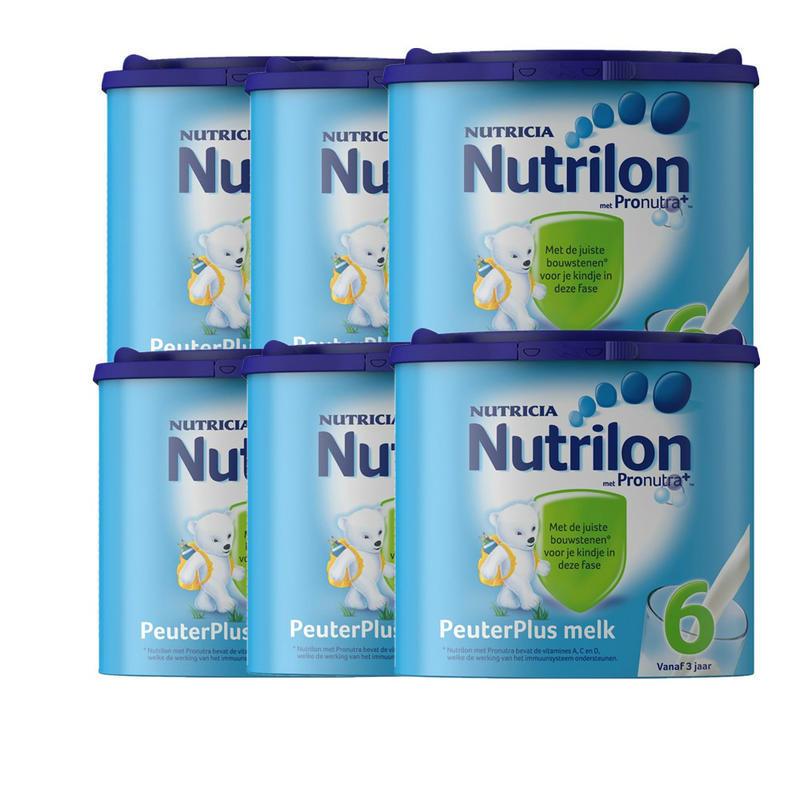 【荷兰DOD】Nutrilon 牛栏/诺优能 儿童营养配方奶粉6段(3-6岁) 6盒装 6400g
