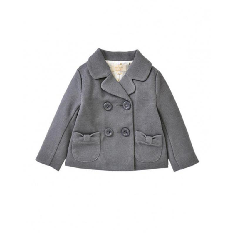 GLADD日本闪购限时品牌折扣kate spade蝴蝶结口袋双排扣夹克