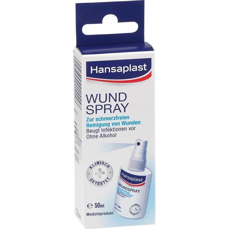 Hansaplast 伤口强力抗菌消毒喷雾 50 ml 无痛清洁伤口 止血杀菌 促进伤口愈合仅需€6.32