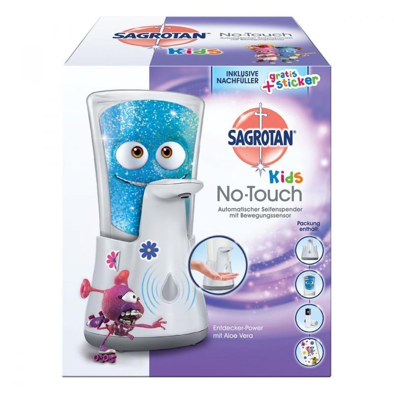 Sagrotan 宝宝儿童自动感应洗手液器 带洗手液 无需按压接触仅需€8.99