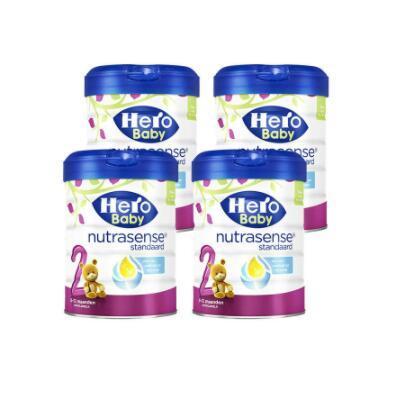 【荷兰DOD】【四罐包邮包税装】Herobaby 美素 婴幼儿奶粉2段 白金版 800g4 适合6-12个月