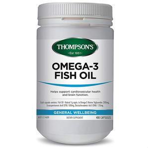 Thompson&#039s 汤普森 Omega-3深海鱼油胶囊 1000mg 400粒