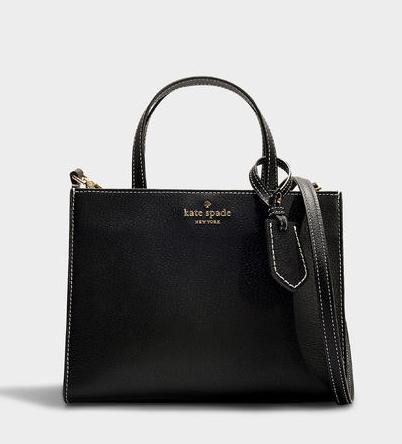 Kate Spade New York Sam Thompson黑色棉质手提包