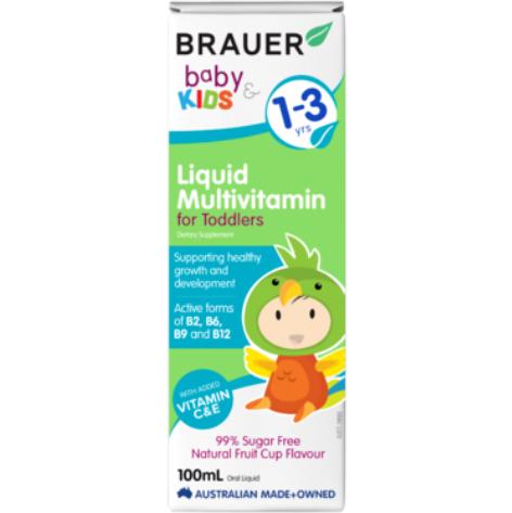 【澳洲PO药房】Brauer 婴幼儿复合维生素滴剂100ml(含14种维生素+矿物质)