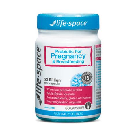 【澳洲PO药房】Life Space 孕妇及哺乳期益生菌 调节肠胃增强免疫力 60粒