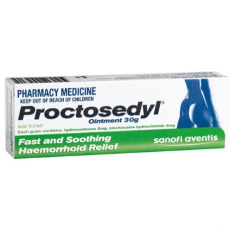 【澳洲PO药房】Proctosedyl 痔疮膏 孕妇可用 30g