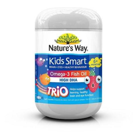 【澳洲PO药房】【Nature&#039s Way 品牌9折】Nature&#039s Way 儿童DHA鱼油胶囊 180粒