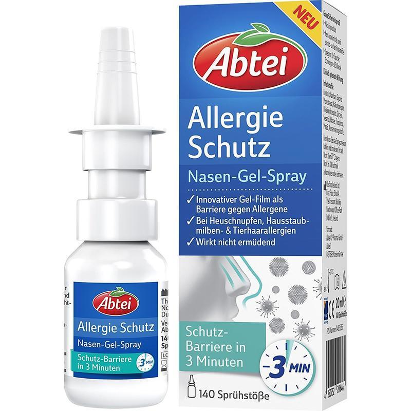 Abtei 爱普泰 抗过敏鼻腔喷雾 预防动物毛发过敏/尘螨过敏/花粉热 20ml 三分钟见效