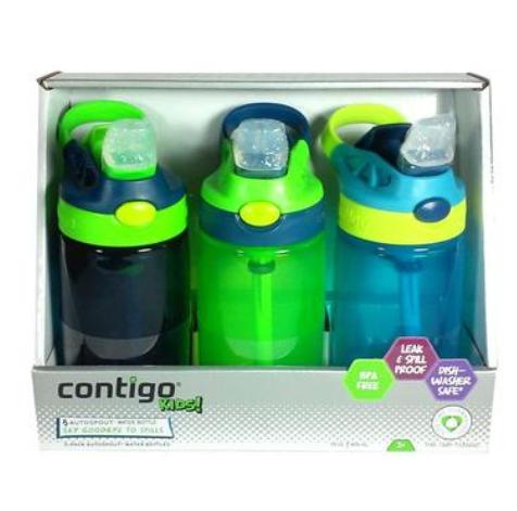 【澳洲PO药房】【Contigo 品牌9折】Contigo 康迪克 儿童吸管杯 防漏 414mlX3 (男孩)