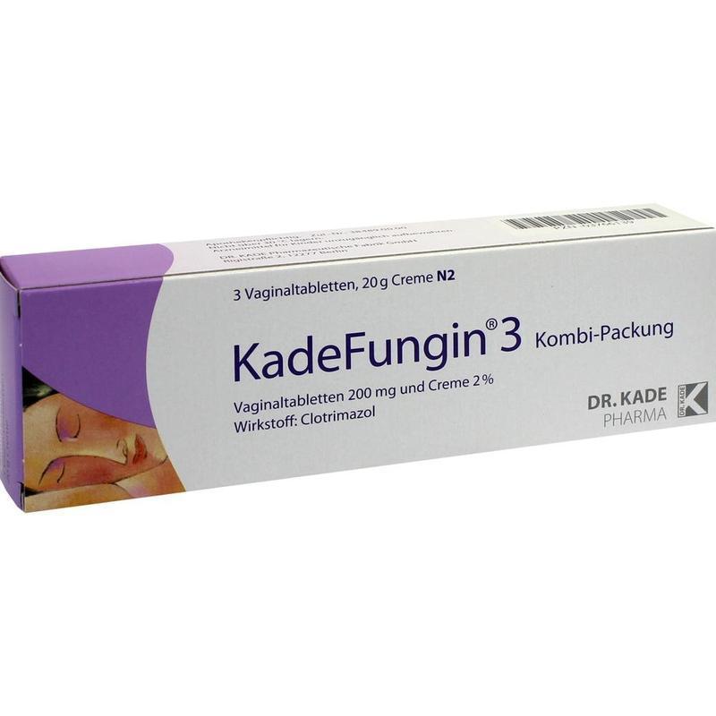 Kade fungin 3 妇科阴道片/孕妇/霉菌性/真菌/念珠菌 保养修复 3片 + 20g膏
