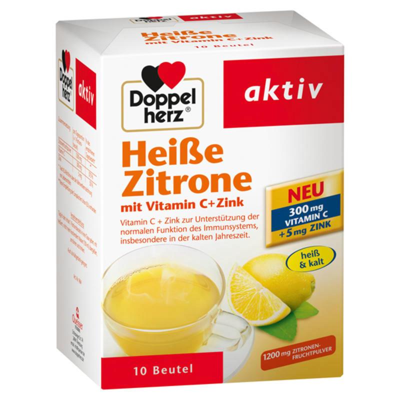 【德国BA】DOPPELHERZ 双心柠檬维C+锌热饮冲剂 10袋/盒