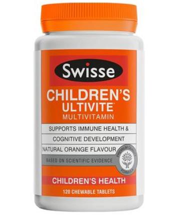 【澳洲PO药房】Swisse 儿童专用复合维生素咀嚼片  120片