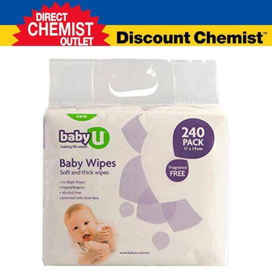 Baby U 无香味 婴幼儿湿纸巾 240抽