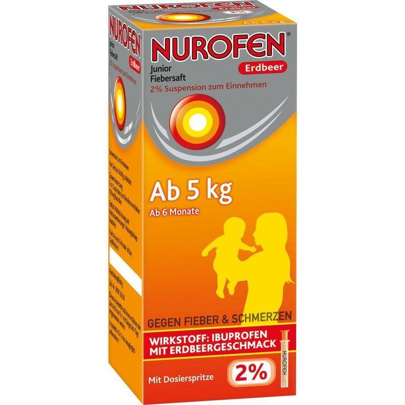 Nurofen 婴幼儿解热果味糖浆 100ml 草莓味 6个月+(5kg以上)宝宝适用