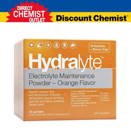【单品包邮】Hydralyte 橙味补液盐/电解质颗粒 10包