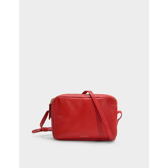 Mansur Gavriel红色小羊皮双拉链女士手袋