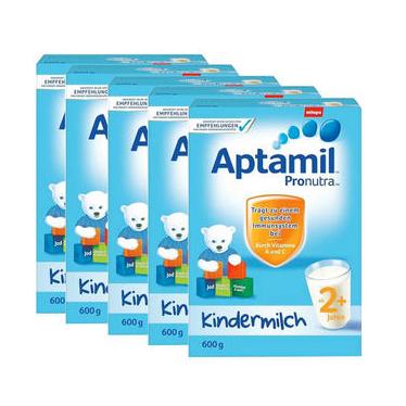 【DC德国药房】【5盒组合装】Aptamil 爱他美 超市版 婴幼儿配方营养奶粉 2+ 2岁及以上 600g5盒