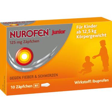 【DC德国药房】Nurofen 布洛芬 125mg婴幼儿退热PP栓(12.5kg以上)2+ 10支