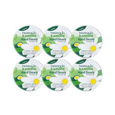 【6盒特惠装】Herbacin 贺本清 小甘菊护手霜 75ml6个 铁盒装 植物萃取 滋润保湿 更新配方+新包装