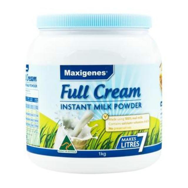 【限量到货】Maxigenes 美可卓(蓝胖子) 全脂高钙成人奶粉 1kg/瓶