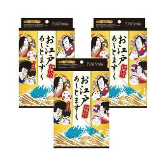 【多庆屋】Pure Smile 江户歌舞伎脸谱面膜 4片3盒