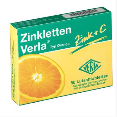 【DC德国药房】Zinkletten Verla 补锌含片 橙子味 50粒