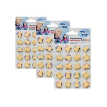 【DC德国药房】【3件装】DAS gesunde PLUS 儿童复合维生素小熊咀嚼含片 4岁+ 20片