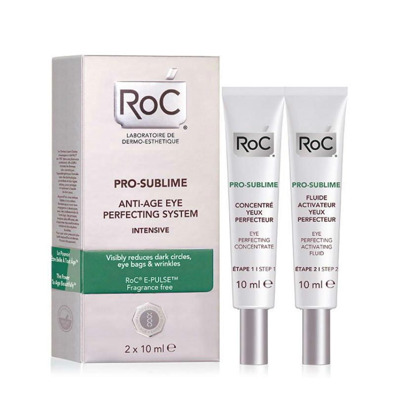【荷兰DOD】ROC 洛克 Pro Sublime 强力抗衰老修复眼部系统眼霜 (眼部精华+激活乳)10mlX2