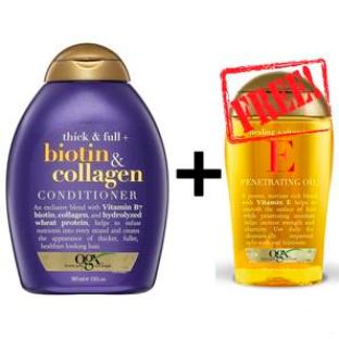 【PD新西兰药房】OGX 欧姬丝 生物素胶原蛋白浓密头发护发素385ml