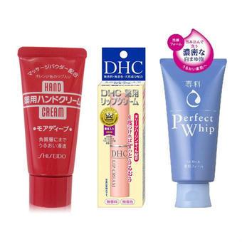 【多庆屋】资生堂护手霜+洗颜专科洁面乳+DHC橄榄润唇膏