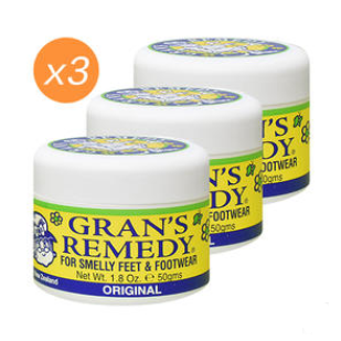 【PD新西兰药房】【除臭脚粉包邮装】Grans Remedy 老奶奶神奇臭脚粉 除脚臭鞋臭粉(原味)3件 用码